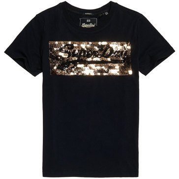 Superdry Women's Vintage Logo Star Sequin Entry Tee