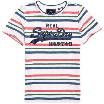 Superdry Women's Vintage Logo Striped Entry Tee