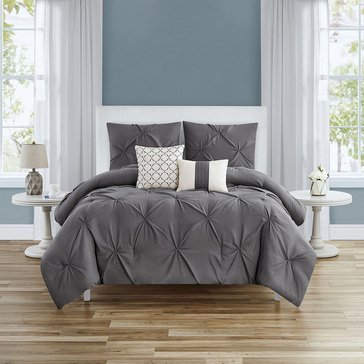 Harbor Home Kiss Pleats 5 Pc Comforter Set