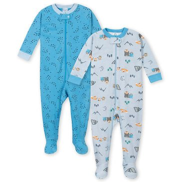 Gerber Baby Boys' Cotton Footed 2-Pack Pj Set