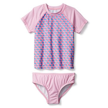 Liberty & Valor Toddler Girls' Scales Rash Guard Set