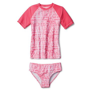 Liberty & Valor Toddler Girls' Floral Rash Guard Set