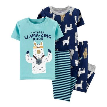 Carter's Toddler Boys' 4-Piece Llama-zing Sleepwear Set
