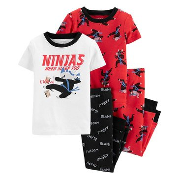 Carter's Toddler Boys' 4-Piece Ninjas Sleepwear Set