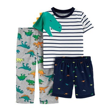 Carter's Toddlers Boys' 3-Piece Poly Dino Sleepwear Set