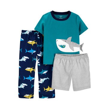 Carter's Toddler Boys' 3-Piece Poly Shark Sleepwear Set