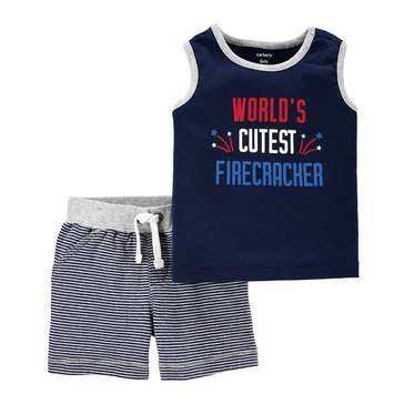 Carter's Baby Boys' Firecracker Short 2-Piece Set