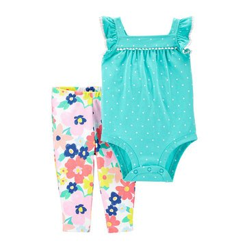 Carter's Baby Girls' Bodysuit and Floral Pant 2-Piece Set