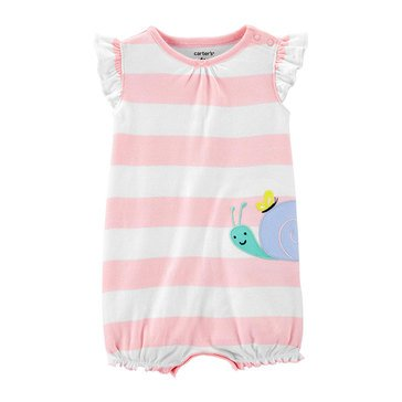 Carter's Baby Girls' Snail Snap Up Romper