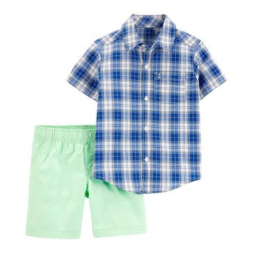 Carter's Toddler Boys' Multi Plaid Set