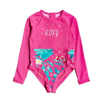 Roxy Little Girls' 1-Piece Magical Sea Striped Onsie Swim