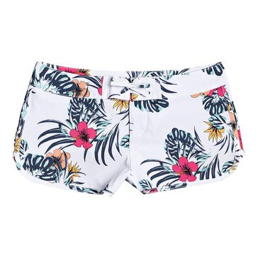 Roxy Big Girls' Love Waimea Tropical Printed Boardshorts