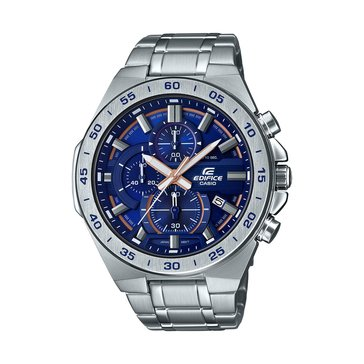 Casio Men's Blue Dial/Stainless Stainless Strap Watch, 48.9mm