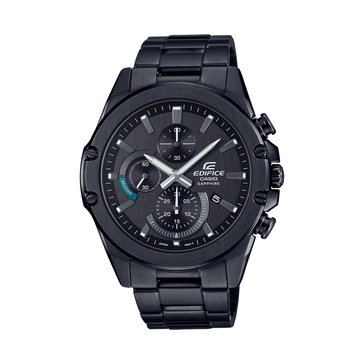 Casio Men's Black Dial/Stainless Stainless Strap Watch, 48.9mm
