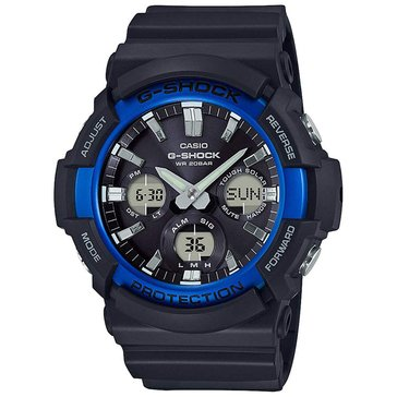Casio Men's Black Blue/Dial Black Resin Strap Watch, 52.5mm