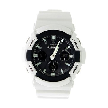 Casio Men's Black Dial/White Resin Strap Watch, 52.5mm
