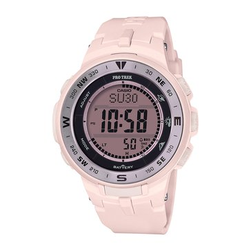 Casio Women's Pink-Black Dial/Pink Resin Strap Watch, 47.1mm