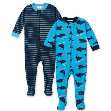 Gerber Baby Boys' 2-Pack Cotton Footed Pj Set