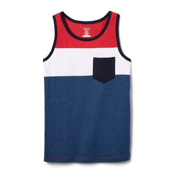 French Toast Baby Boys' Color Block Pocket Tank