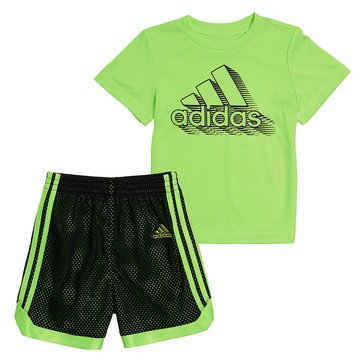 Adidas Baby Boys' Mesh Shorts Set