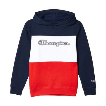 Champion Big Boys' Fleece Color Block Hoodie