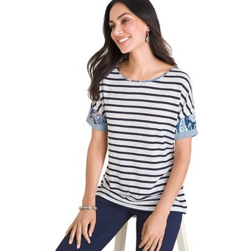 Chico's Women's Multi Striped Shirt
