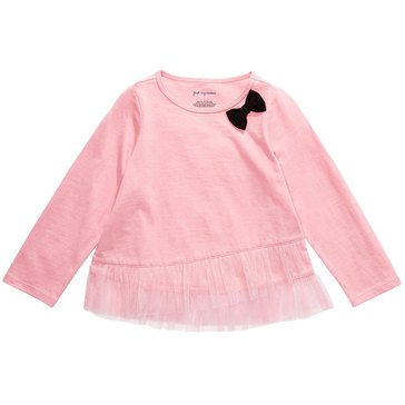 First Impressions Baby Girls' Ruffle Hem Top