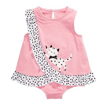 First Impressions Baby Girls' Kitty Sun Suit