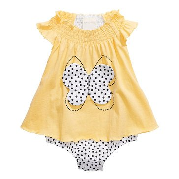 First Impressions Baby Girls' Butterfly Dot Sun Suit