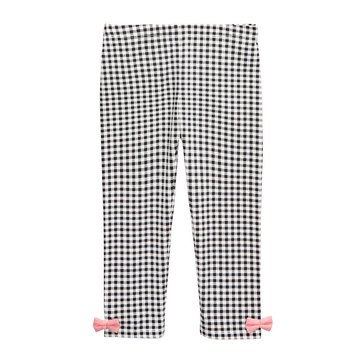 First Impressions Baby Girls' Gingham Bow Leggings