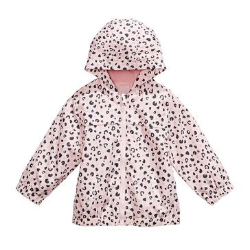 First Impressions Baby Girls' Animal Print Windbreaker