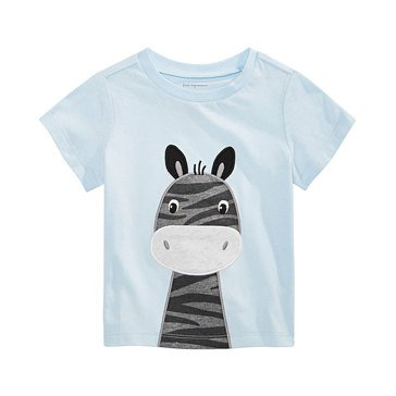 First Impressions Baby Boys' Zebra Face Safari Tee