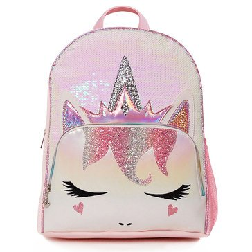 OMG Queen Miss Gwen Unicorn Sequins Large Backpack