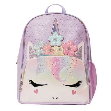 OMG Flower Crown Miss Gwen Unicorn Perforated Large Backpack