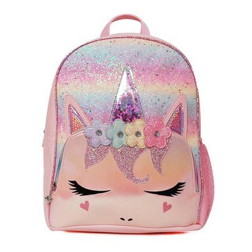 OMG Flower Crown Miss Gwen Unicorn Ombre Glitter Large Backpack