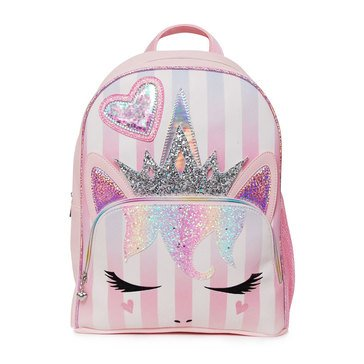 OMG Queen Striped Miss Gwen Unicorn Large Backpack