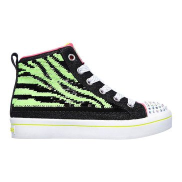 Shechers Kids Toddler Girls' Twinkle Toes Flip Kick Lighted Sneaker