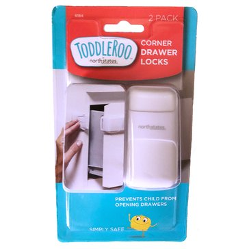 Toddleroo by North States® Corner Drawer Locks