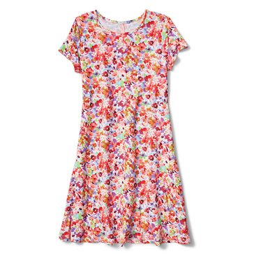 Yarn & Sea Women's Breakwater Printed Yummy Knit Swing Dress