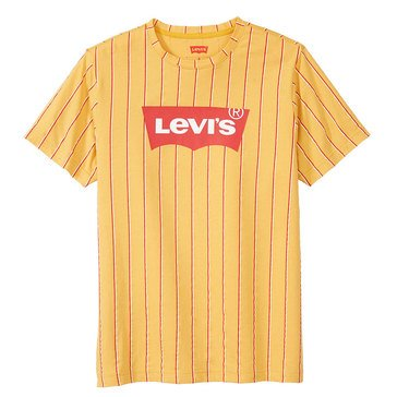 Levi's Men's Cale Vertical Texture Striped Crew Knit