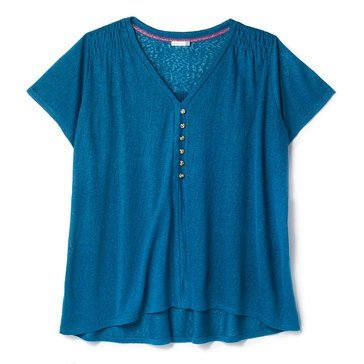 Yarn & Sea Women's Button Henley Airy Top