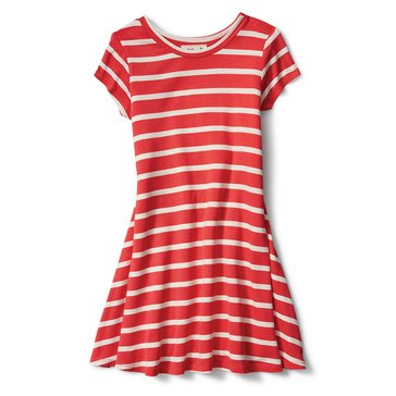 Liberty & Valor Big Girls' Striped Trapeze Dress