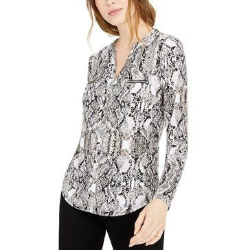 I.N.C. International Concepts Women's Snake Printed Top