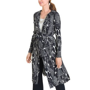 Chico's Women's Snake Printed Long Jacket