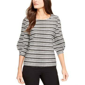 Alfani Women's Waves Striped Popover