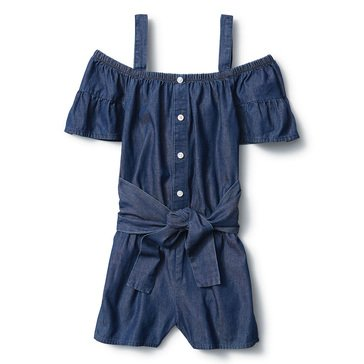 Liberty & Valor Toddler Girls' Ruffle Sleeve Romper