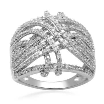 10k White Gold 1 Cttw Diamond Fashion Ring