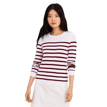 Brooks Brothers Women's Striped Crew Neck Sweater