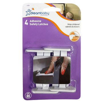 Dreambaby Adhesive Safety Latches - 4 Pack