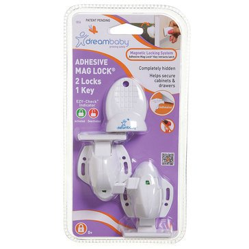 Dreambaby Adhesive Magnetic Cabinet Locks- One Spare Key